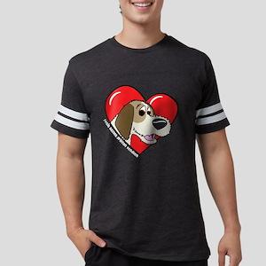 heartpbgv_blk Mens Football Shirt