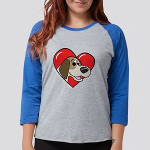 heartpbgv_blk Womens Baseball Tee
