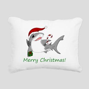 sharkaxmas Rectangular Canvas Pillow
