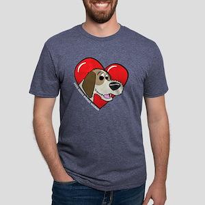 heartpbgv_blk Mens Tri-blend T-Shirt