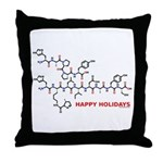 molecularshirts.com Happy Holidays Throw Pillow