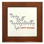 molecularshirts.com Happy Holidays Framed Tile