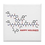 molecularshirts.com Happy Holidays Tile Coaster