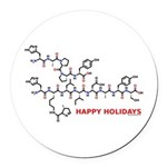 molecularshirts.com Happy Holidays Round Car Magne