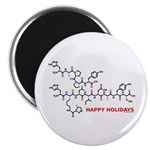 molecularshirts.com Happy Holidays Magnet
