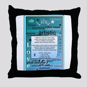 LIBRA BIRTHDAY Throw Pillow