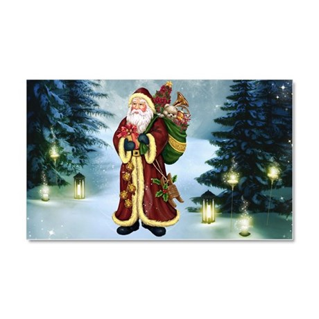 Santa Claus In The Forest Car Magnet 20 x 12