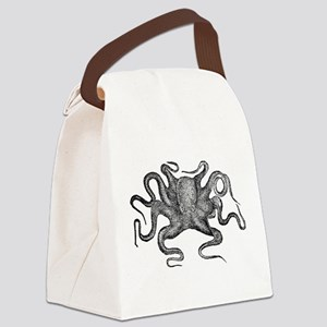 Vintage Octopus Canvas Lunch Bag