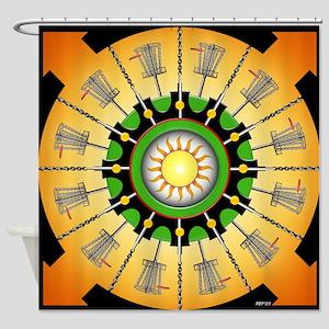 Sunny Baskets Shower Curtain