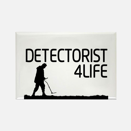 Detectorist 4 Life Rectangle Magnet
