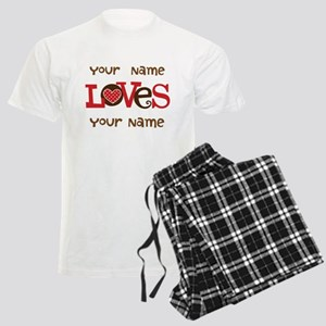 Personalized Love Men's Light Pajamas