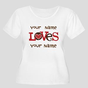Personalized Love Women's Plus Size Scoop Neck T-S
