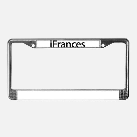iFrances License Plate Frame