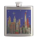 Philadelphia Starry Night Flask