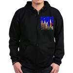 Philadelphia Starry Night Zip Hoodie (dark)