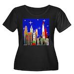 Philadelphia Starry Night Women's Plus Size Scoop