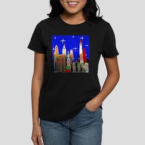 Philadelphia Starry Night Women's Dark T-Shirt