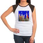 Philadelphia Starry Night Women's Cap Sleeve T-Shi