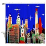 Philadelphia Starry Night Shower Curtain