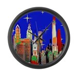 Philadelphia Starry Night Large Wall Clock
