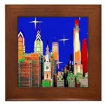 Philadelphia Starry Night Framed Tile