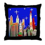 Philadelphia Starry Night Throw Pillow