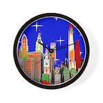 Philadelphia Starry Night Wall Clock