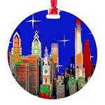 Philadelphia Starry Night Round Ornament