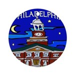Philadelphia Starry Night Ornament (Round)