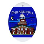 Philadelphia Starry Night Ornament (Oval)