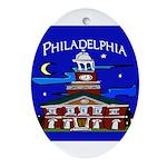 Philadelphia Starry Night Ornament (Oval)