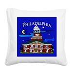 Philadelphia Starry Night Square Canvas Pillow