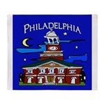 Philadelphia Starry Night Throw Blanket