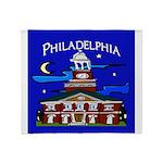 Philadelphia Starry Night Throw Blanket