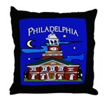 Philadelphia Starry Night Throw Pillow