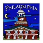 Philadelphia Starry Night Tile Coaster