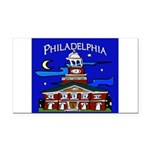 Philadelphia Starry Night Rectangle Car Magnet