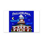 Philadelphia Starry Night Rectangle Car Magnet