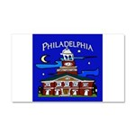 Philadelphia Starry Night Car Magnet 20 x 12