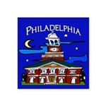 Philadelphia Starry Night Square Sticker 3