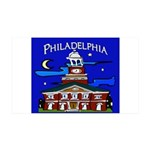 Philadelphia Starry Night 35x21 Wall Decal