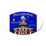 Philadelphia Starry Night 35x21 Oval Wall Decal