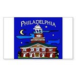 Philadelphia Starry Night Sticker (Rectangle 50 pk