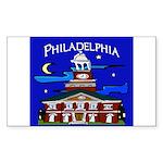 Philadelphia Starry Night Sticker (Rectangle 50 pk
