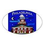Philadelphia Starry Night Sticker (Oval)