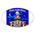 Philadelphia Starry Night Sticker (Oval)