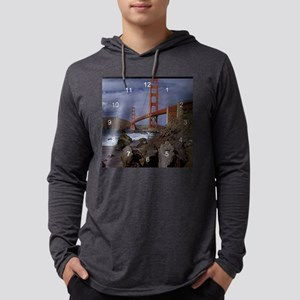 San Francisco Golden Gate clock  Mens Hooded Shirt