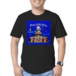 Philadelphia Starry Night Men's Fitted T-Shirt (da