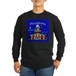 Philadelphia Starry Night Long Sleeve Dark T-Shirt