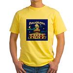 Philadelphia Starry Night Yellow T-Shirt